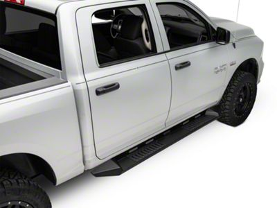 Black Horse Off Road Armour Running Boards - Black (09-18 RAM 1500 Crew Cab)