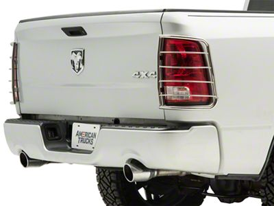Black Horse Off Road Tail Light Guards - Stainless Steel (09-18 RAM 1500)
