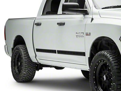 MMD Bolt-On Look Body Side Moldings - Matte Black (09-18 RAM 1500 Quad Cab, Crew Cab)
