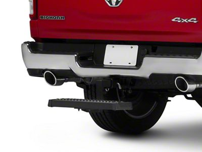 RedRock 4x4 Aluminum 6 in. Drop Hitch Step for 2 in. Receiver - Black (02-19 RAM 1500)