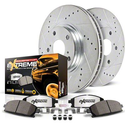 Power Stop Z36 Extreme Truck & Tow Brake Rotor & Pad Kit - Front (02-18 RAM 1500)