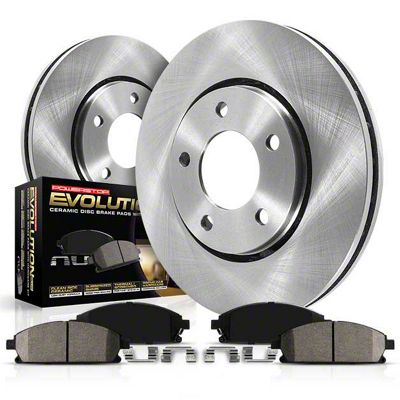 Power Stop OE Replacement Brake Rotor & Pad Kit - Front & Rear (02-18 RAM 1500)
