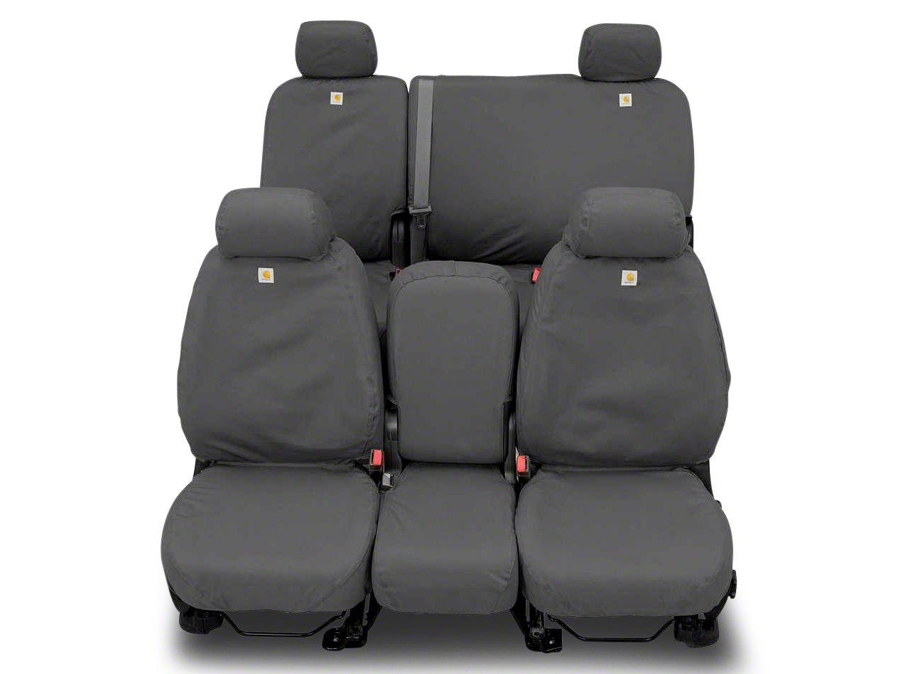 Covercraft Carhartt SeatSaver 2nd Row Seat Cover - Gravel (02-08 RAM 1500 Quad Cab, Mega Cab)
