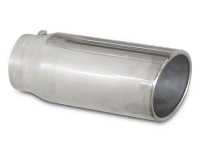 Pypes 5 in. Rolled Angled Cut Exhaust Tip - Polished Stainless - 3.0 in. Connection (02-19 RAM 1500)
