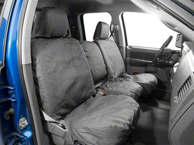 Covercraft Front Row Seat Saver Seat Covers - Charcoal (02-08 RAM 1500 w/ Bench Seat)