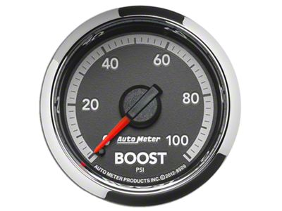 Auto Meter Factory Match Boost Gauge - 0-100PSI - Mechanical (09-18 RAM 1500)