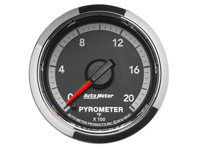 Auto Meter Factory Match Pyrometer Gauge - 0-2000 Degrees - Digital Stepper Motor (09-18 RAM 1500)