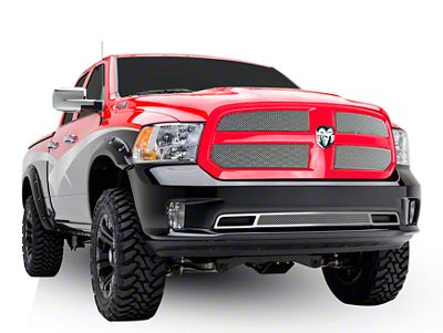 T-REX Sport Series Upper Overlay Mesh Grilles - Chrome (13-18 RAM 1500, Excluding Rebel & Sport)