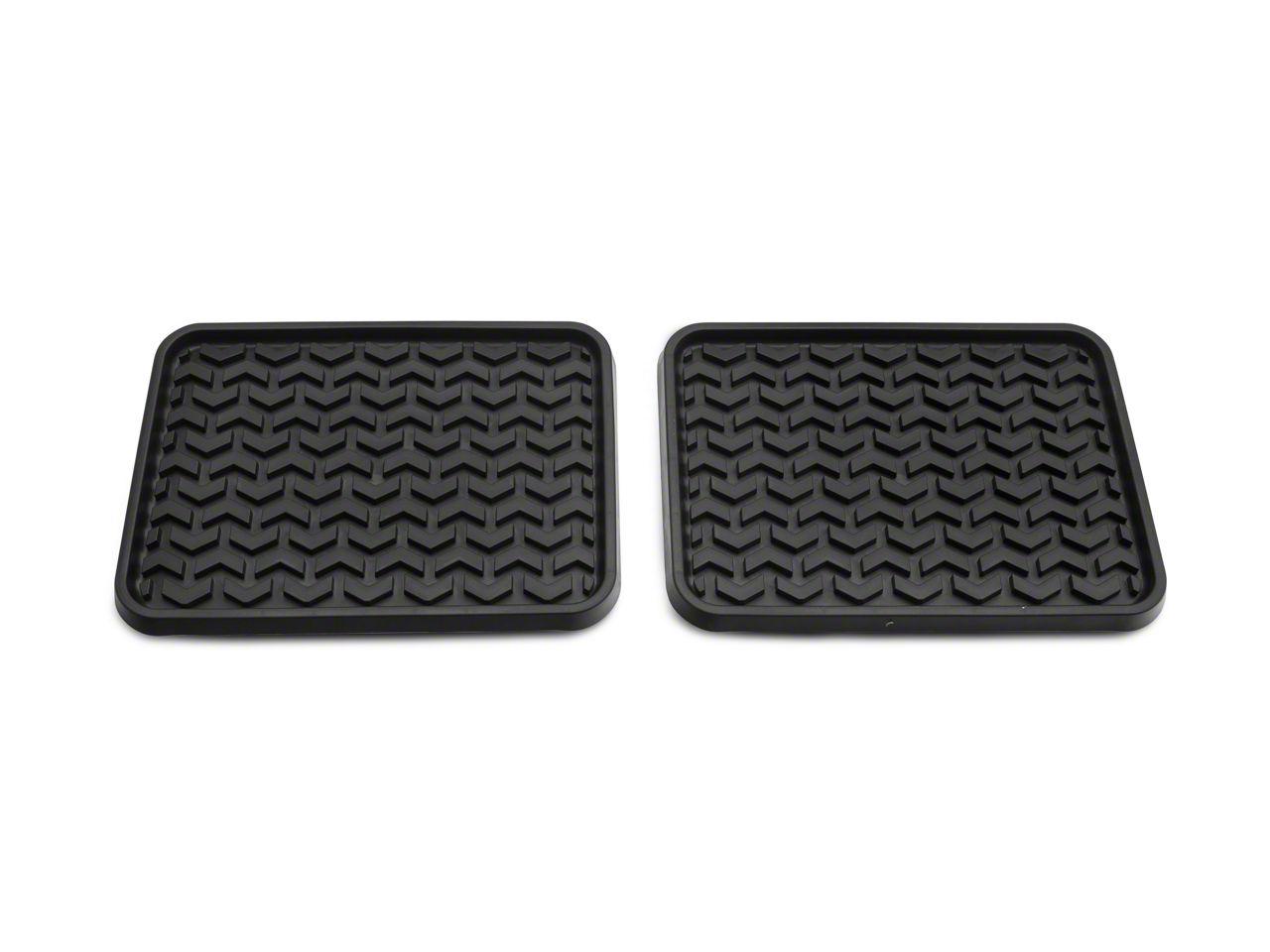 Rugged Ridge Rear Floor Mats - Black (02-18 RAM 1500 Quad Cab, Crew Cab, Mega Cab)