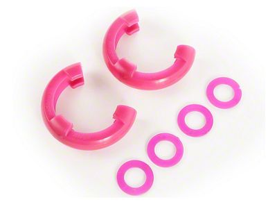 Rugged Ridge 3/4 in. Pink D-Shackle Isolators - Pair