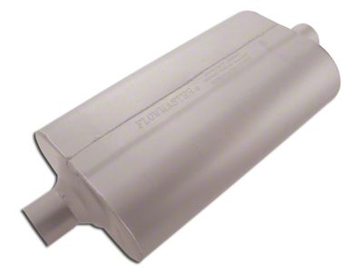 Flowmaster Super 50 Series Center/Center Oval Muffler - 2.25 in. (Universal Fitment)