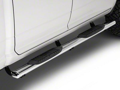 Raptor Series 4 in. Cab Length Oval Side Step Bars - Polished Stainless (09-18 RAM 1500)