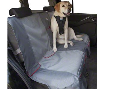 Kurgo Journey Rear Bench Seat Cover - Charcoal/Chili Red (02-19 RAM 1500 Quad Cab, Crew Cab, Mega Cab)