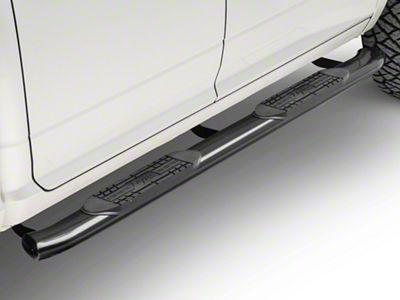 Raptor Series 5 in. OE Style Curved Oval Side Step Bars - Black (09-18 RAM 1500)