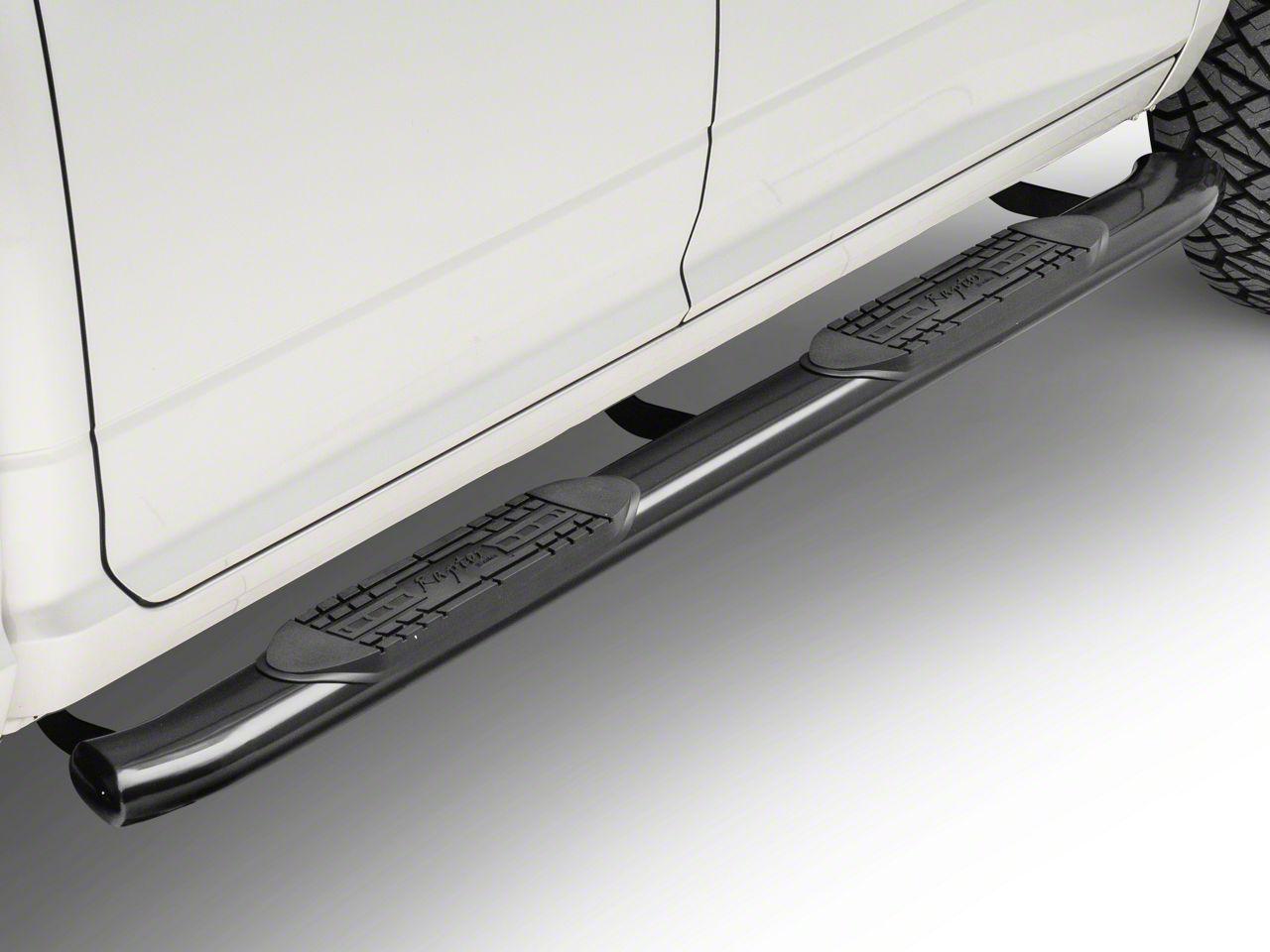 Raptor Series 5 in. OE Style Curved Oval Side Step Bars - Black (09-18 RAM 1500)