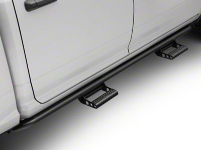 N-Fab Cab Length RKR Side Rails w/ Detachable Steps - Textured Black (09-18 RAM 1500 Quad Cab, Crew Cab)