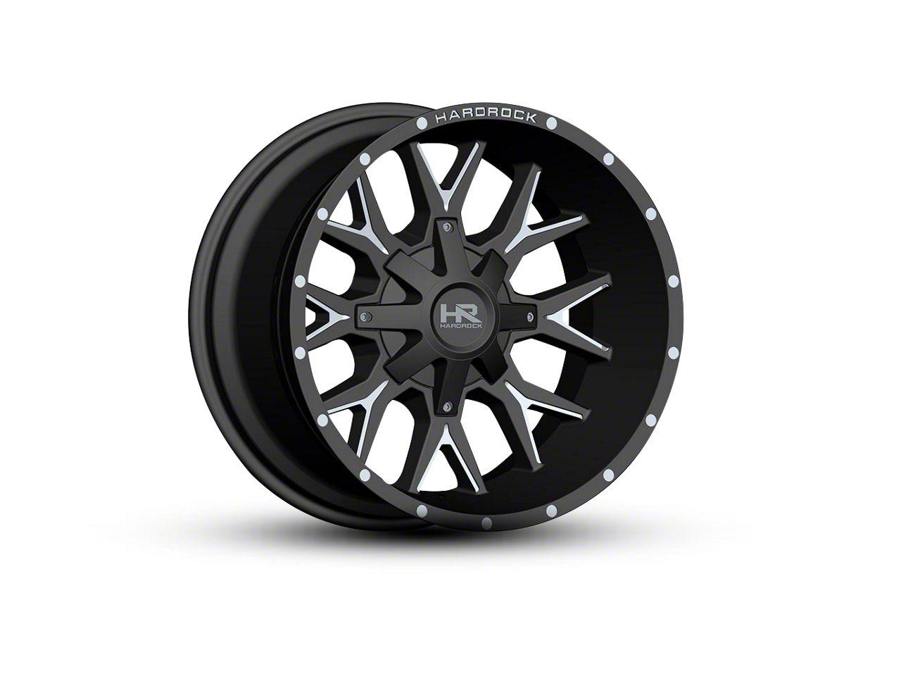 Hardrock Offroad H700 AFFLICTION Black Milled 5-Lug Wheel - 22x10 (02-18 RAM 1500, Excluding Mega Cab)