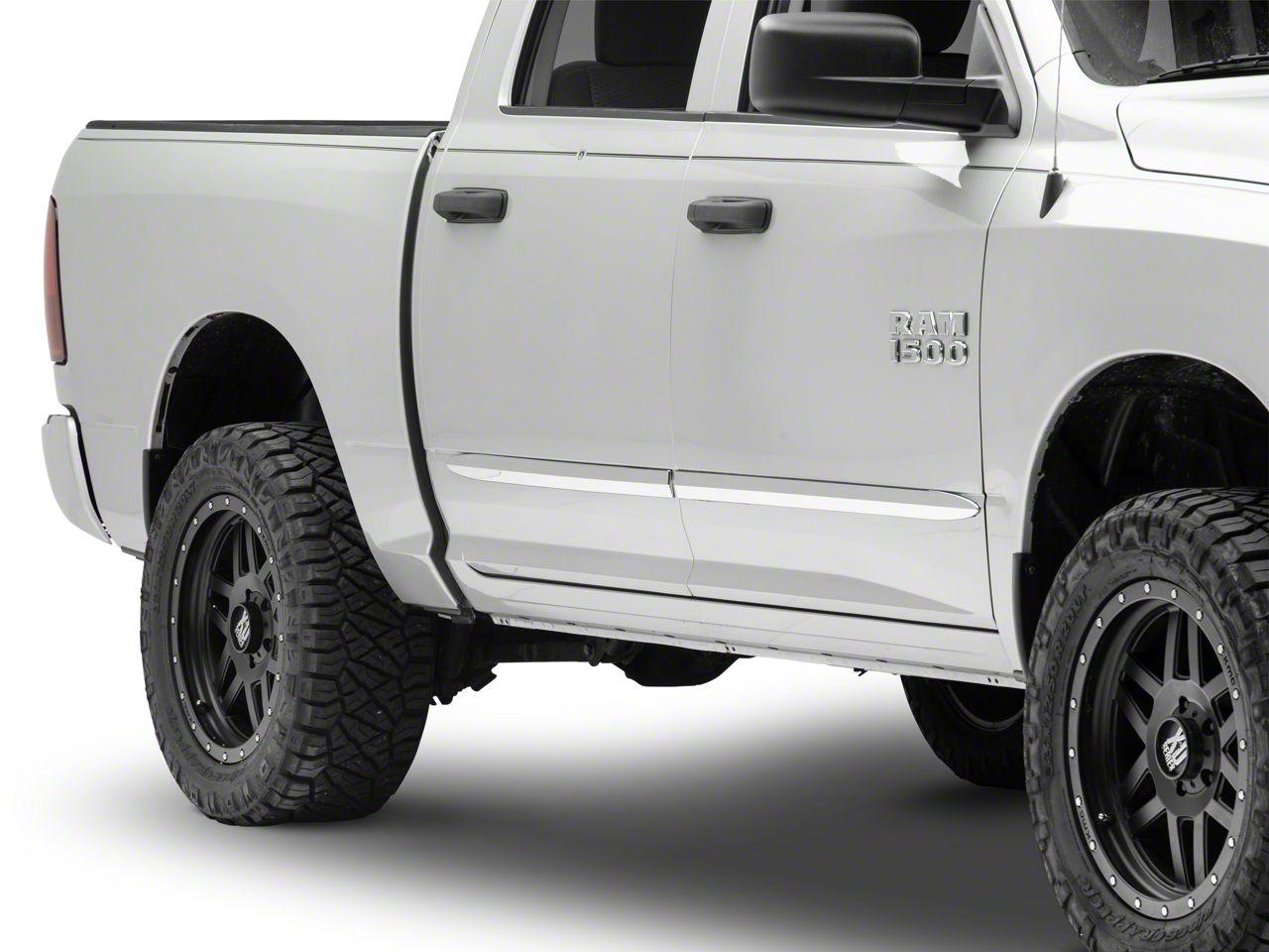 ABS Chrome Bodyside Moldings (09-18 RAM 1500 Quad Cab, Crew Cab)