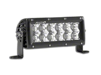 Rigid Industries 6 in. E-Series Amber LED Light Bar - Flood/Spot Beam
