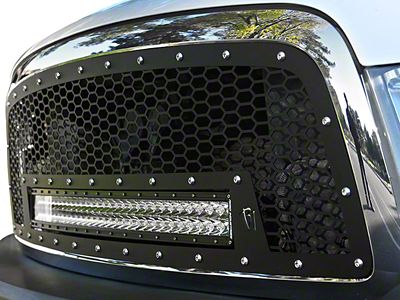 Rigid Industries Upper Replacement Grille w/ 30 in. RDS-Series LED Light Bar - Black (09-12 RAM 1500)