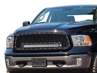 Rigid Industries Upper Replacement Grille w/ 30 in. RDS-Series LED Light Bar - Black (13-18 RAM 1500, Excluding Rebel)