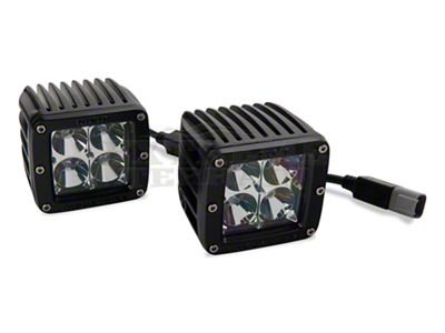 Rigid Industries D-Series Blue LED Cube Lights - Flood Beam - Pair