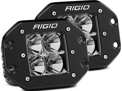 Rigid Industries D-Series Flush Mount LED Cube Lights - Flood Beam - Pair