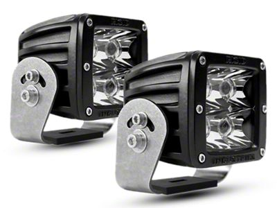 Rigid Industries D-Series HD Amber LED Cube Lights - Spot Beam - Pair