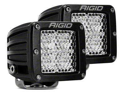 Rigid Industries D-Series LED Cube Lights - 60 Deg. Diffused - Fog Beam - Pair