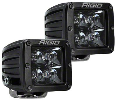 Rigid Industries D-Series Midnight Edition LED Cube Lights - Spot Beam - Pair