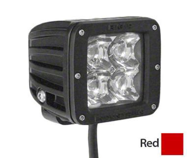 Rigid Industries D-Series Red LED Cube Light - Flood Beam