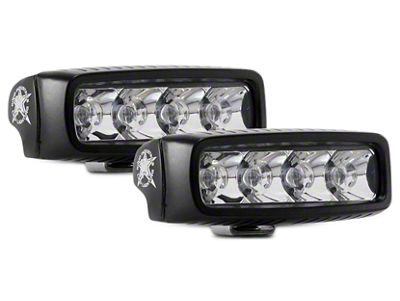 Rigid Industries SR-Q Series Amber LED Light Bar - Spot Beam - Pair