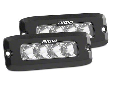 Rigid Industries SR-Q Series Flush Mount Amber LED Light Bars - Spot Beam - Pair