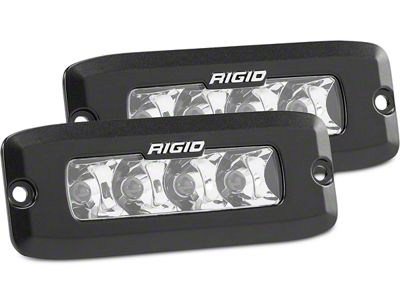 Rigid Industries SR-Q Series Flush Mount LED Light Bars - Spot Beam - Pair