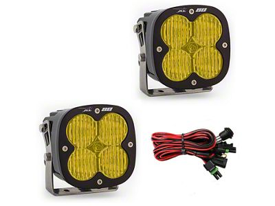 Baja Designs XL80 Amber LED Lights - Wide Cornering Beam - Pair