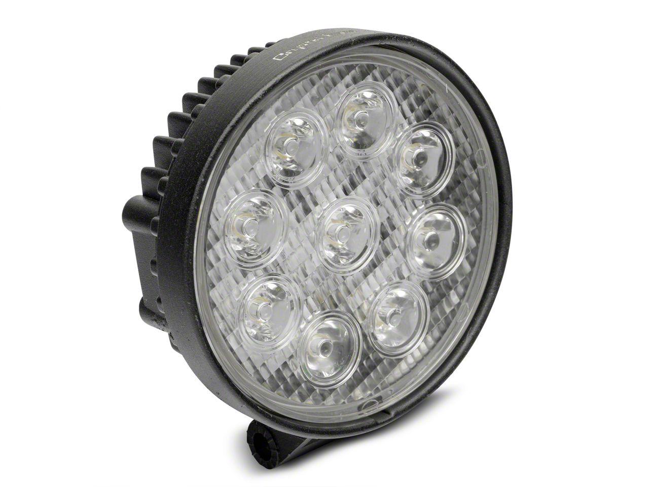 Alteon 4 in. Work Visor 9 LED Round Light - 60 Degree Flood Beam