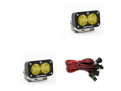 Baja Designs S2 Sport Amber LED Light - Wide Cornering Beam- Pair