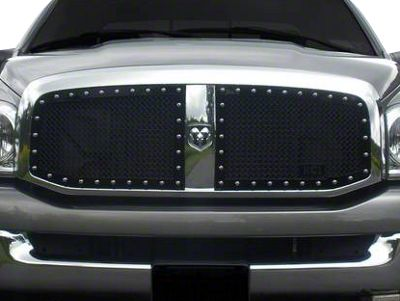 Royalty Core RC1 Classic 2-Piece Upper Grille Inserts - Black (06-08 RAM 1500)