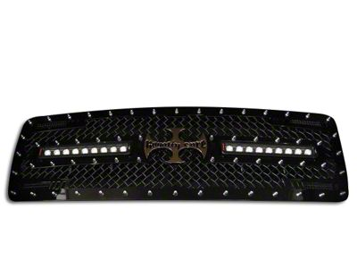 Royalty Core RC2X X-Treme Upper Replacement Grille w/ Dual 12 in. LED Lights Bars (02-05 RAM 1500)