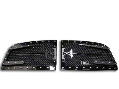 Royalty Core RC3DX Innovative Split Sword Assembly Upper Grille Inserts - Black (06-08 RAM 1500)