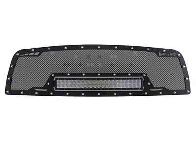 Royalty Core RCRX Race Line Upper Replacement Grille w/ 23 in. LED Light Bar - Satin Black (06-08 RAM 1500)