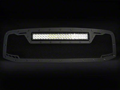 Royalty Core RCRX Race Line Upper Replacement Grille w/ Top Mounted 23 in. LED Light Bar - Satin Black (06-08 RAM 1500)
