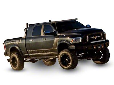 Royalty Core RCX Explosive Upper Replacement Grille w/ Dual 12 in. LED Light Bars - Black (13-18 RAM 1500, Excluding Rebel)