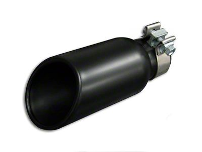 Black Horse Off Road 4x10 in. Exhaust Tip - Black - 2.75 in Connection (02-19 RAM 1500)