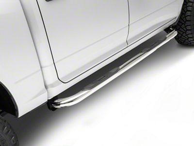Black Horse Off Road 3 in. Round Side Step Bars - Stainless Steel (09-18 RAM 1500 Quad Cab, Crew Cab)