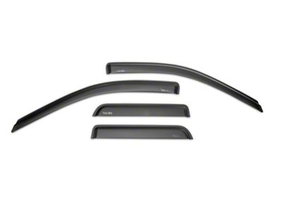 Rugged Ridge Front & Rear Window Visors - Matte Black (09-18 RAM 1500 Quad Cab)