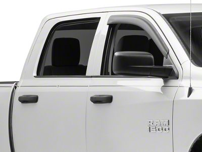 Rugged Ridge Front Window Visors - Matte Black (09-18 RAM 1500 Quad Cab)