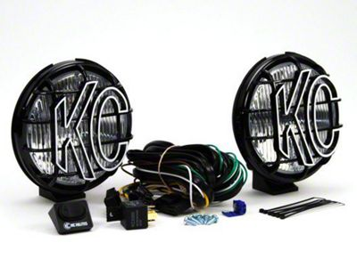 KC HiLiTES 6 in. Apollo Pro Halogen Lights - Fog Beam - Pair