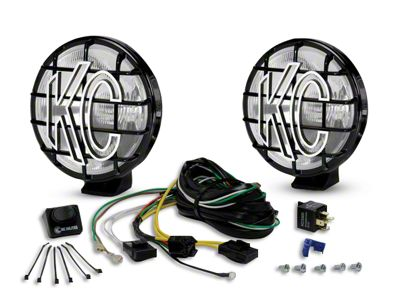 KC HiLiTES 6 in. Apollo Pro Halogen Lights - Spread Beam - Pair