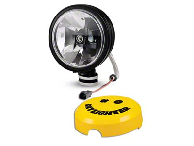 KC HiLiTES 6 in. Black Gravity Daylight LED Round Light - Spot Beam